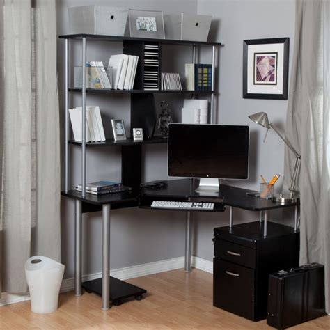 new black corner desk home office black corner desk with