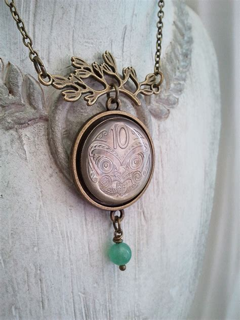 new zealand 10c coin pendant necklace felt