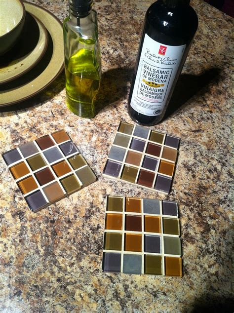what to do with leftover tile coasters made from left over tile sheets when our