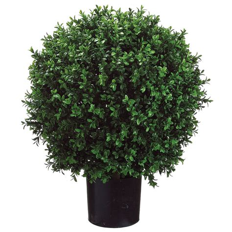 24h x 18w inch artificial boxwood ball potted lpb446 gr