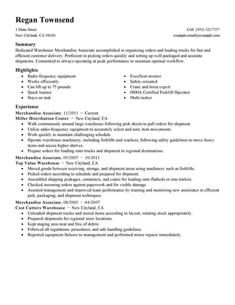 Merchandise Associate Cover Letter by Merchandise Associate Resume Sle Associate Resumes Livecareer