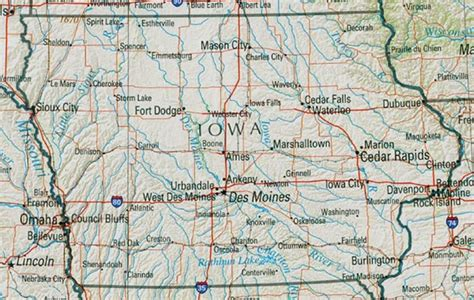 printable road map of iowa iowa reference map