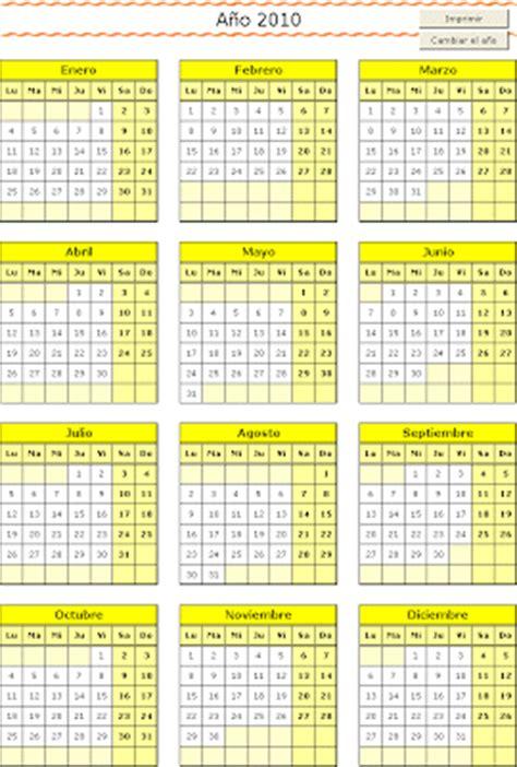 Calcular Calendario Gratis Calendarios Para Imprimir Hojas De Clculo Excel