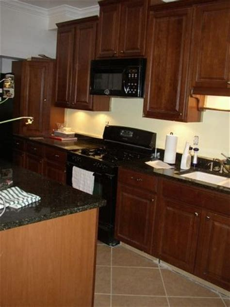 Black Kitchen Cabinets With Black Appliances Cabinets Black Appliances In The Kitchen