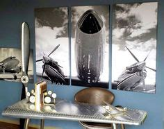 quot takeoff quot large vintage aviation cockpit triptych a aviation on pinterest aviation decor triptych and airplane