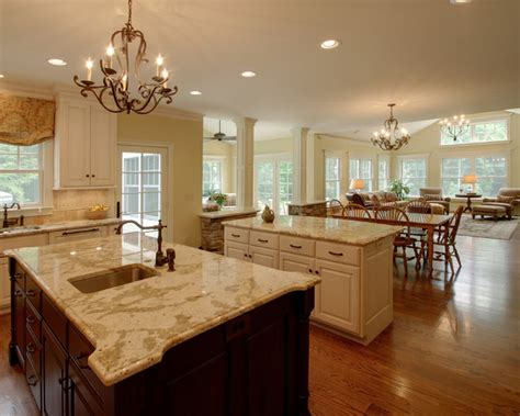 open kitchen with island superb open kitchen floor plans in contemporary interior