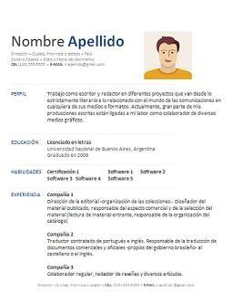 Modelo De Curriculum Vitae Word En Bolivia hoja de vida para descargar gratis en word y espa 241 ol