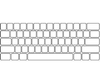 blank keyboard template worksheets blank keyboard template printable chicochino