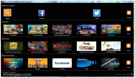 bluestacks hippo scarica bluestacks app player 2 7 320 8504 filehippo com
