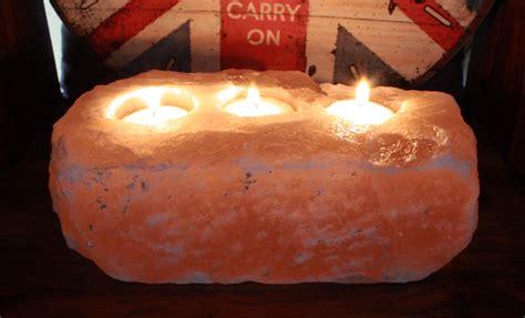 salt l candle holder natural salt candle holder 3 holes ancient wisdom drop