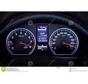 Illuminated Car Dashboard Stock Image  21188271