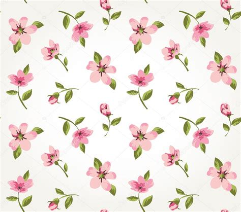 flower pattern stock illustrations seamless pink vintage flower pattern background vector