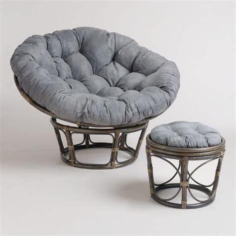 porcelain micro suede papasan chair cushion world market charcoal micro suede papasan chair cushion world market