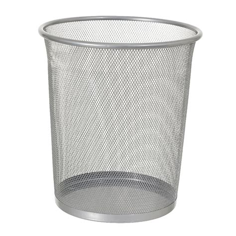 Stainless Desk J Burrows 8l Wire Mesh Waste Bin Silver Officeworks