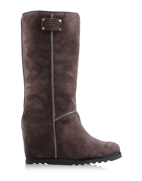 lead boots marc by marc boots in brown lead lyst
