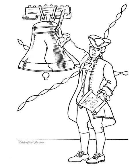 patriotic symbols liberty bell coloring picture 015