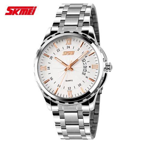 skmei jam tangan analog pria 9069cs gold jakartanotebook