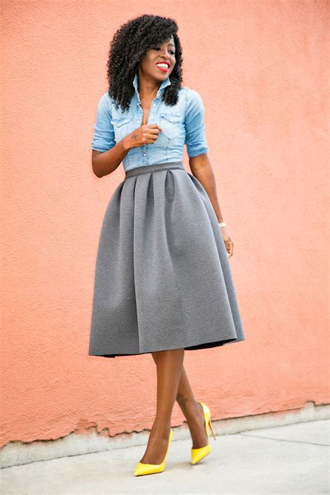 Shirt Pleated Skirt style pantry fitted denim shirt pleated skirt