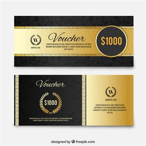 Discount Luxury by Golden Luxury Discount Coupons Set Vector Free