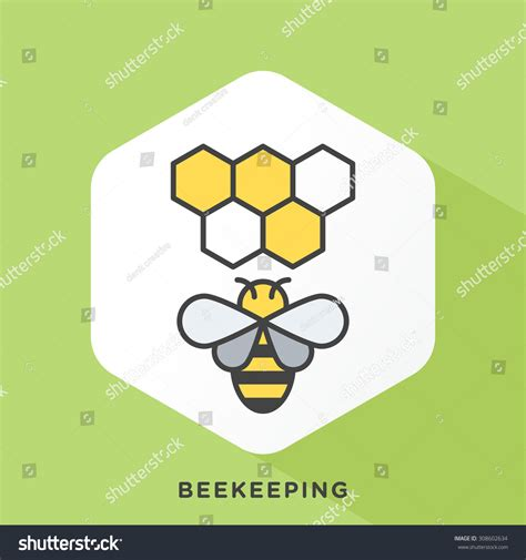 Outline Offset Color by Bee Icon With Grey Outline And Offset Flat Colors Modern Style Minimalistic Vector