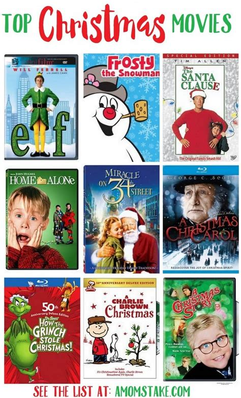 famous christmas movies top 25 christmas movies list a mom s take