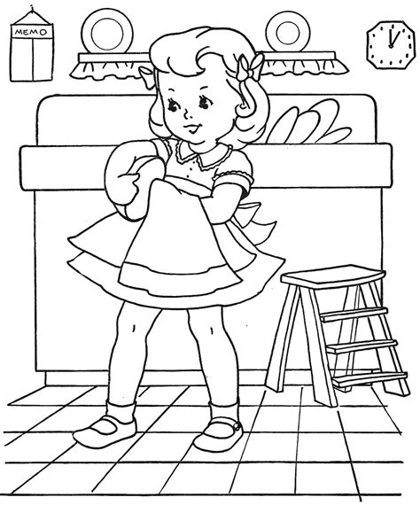 house chores coloring pages favorite paint book little girls q is for quilter