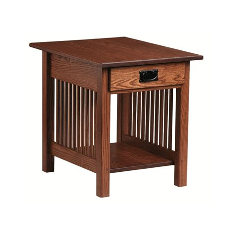 mission end table amish mission end table country