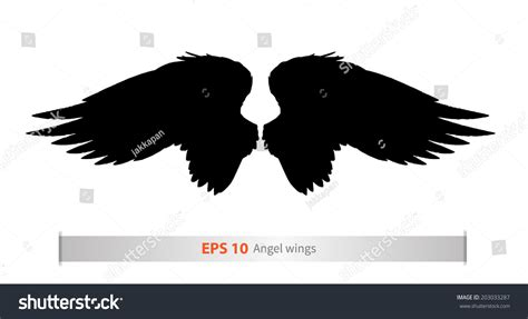 designing silhouettes of angels demo new angel wings silhouette vector design 203033287