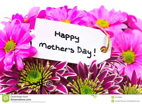 happy day flowers mothers day flowers with tag stock photo image 39478660