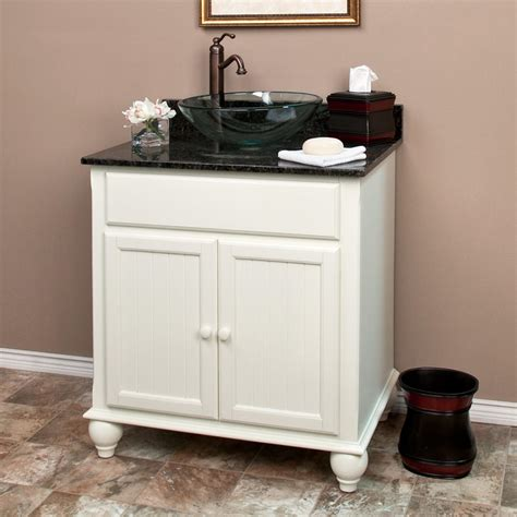 White Bathroom Vanity With Vessel Sink by 36 Quot Modero Vessel Sink Vanity White Bathroom