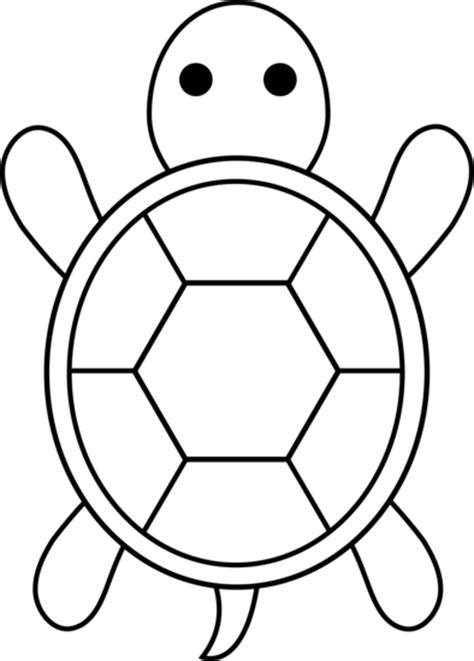 Turtle Outline by Colorable Turtle Free Clip