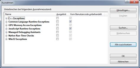 reset visual studio user settings visual studio 2013 catching unhandled exceptions