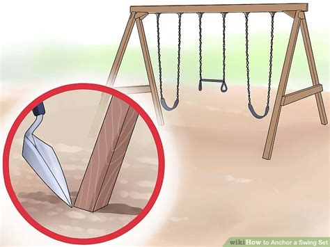 swing set anchors 3 ways to anchor a swing set wikihow