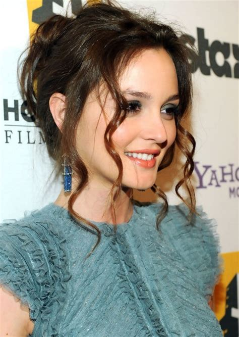 loose bun hairstyles weekly sexy loose bun updo with long curls from leighton meester