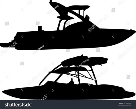 ski and wakeboard boats stock vector 3867355 shutterstock - Wake Boat Vector