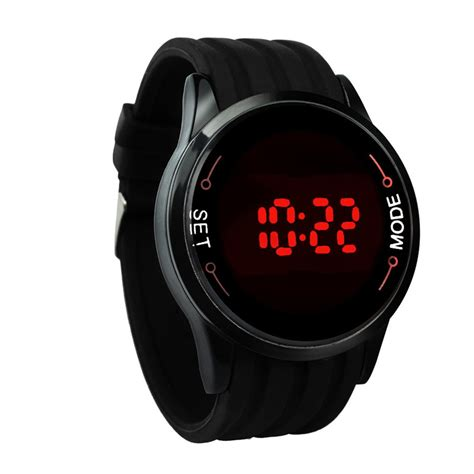 2016 fashion led touch screen date silicone
