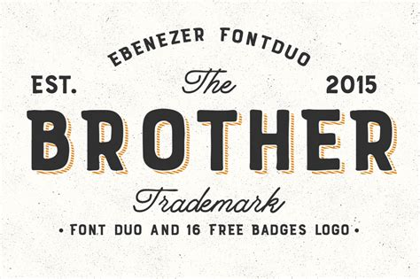 design system e font free brother font duo 16 badges logo by fo font bundles