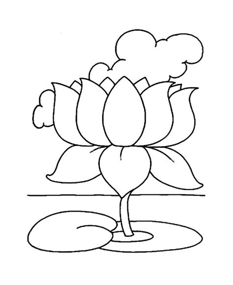 coloring pages of lotus flowers indian lotus flower coloring pages batch coloring