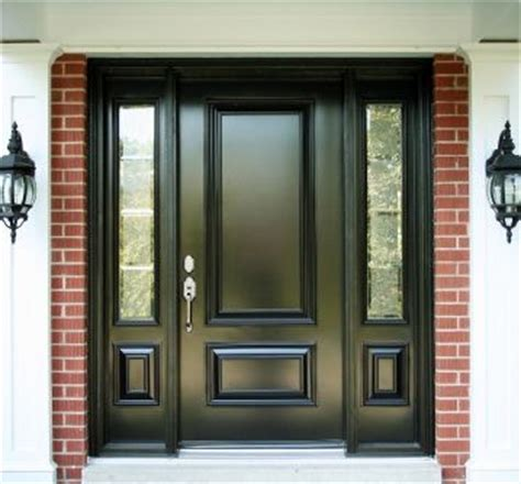 black front door sidelights front doors