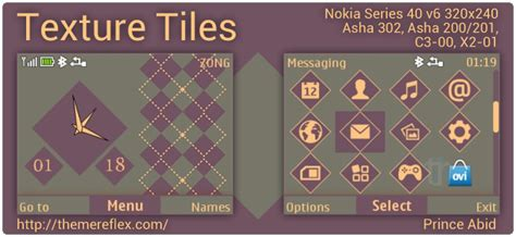 tehkseven themes for nokia c3 texture tiles theme for nokia asha 302 c3 00 x2 01