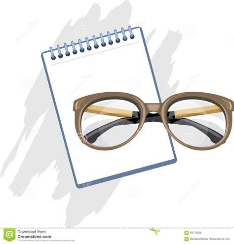 prescription for reading glasses stock vector image