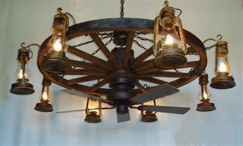 wagon wheel ceiling fan light dxww037 60 8 fan 1 tier wooden wagon wheel chandelier w
