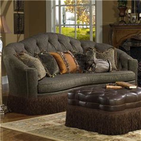 kidney shaped sofa with fringe paul robert lola kidney shaped sofa in traditional