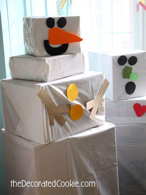 cardboard box snowman fun family crafts