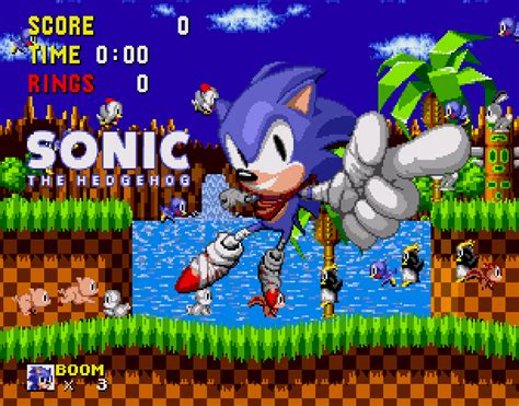sonic the hedgehog sega genesis sonic the hedgehog boom