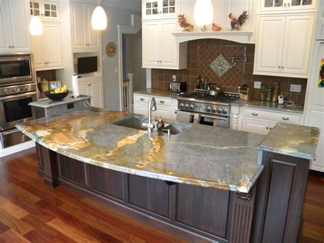 countertops for kitchen islands mixed granite kitchen design ideas and photos theydesign