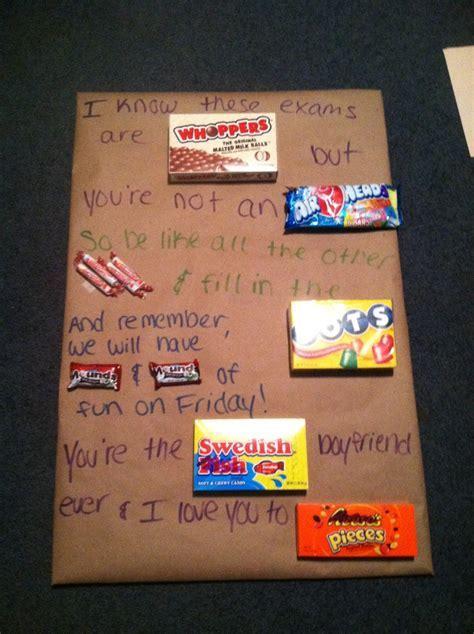 To help my boyfriend through AP exams i made him a candy