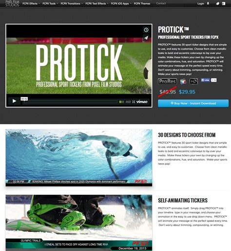 new sports ticker templates for final cut pro x from pixel