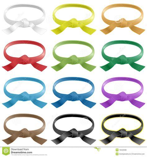 martial arts belt colors martial arts belts in various colors stock vector image