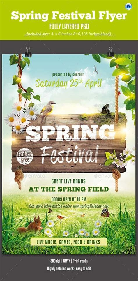 Flyer Templates Graphicriver Spring Festival Flyer Graphicflux Graphicriver Flyer Template
